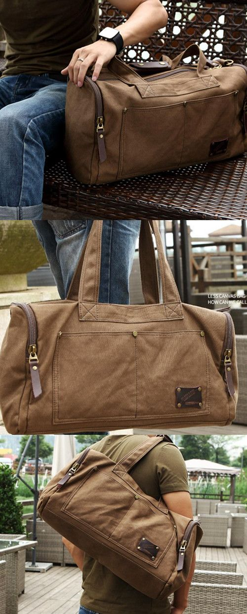 Travel Bag Large Capacity Men Hand Luggage Travel Duffle Bags Canvas  Weekend Bags Multifunctional Travel Bags 49c423a9f6093