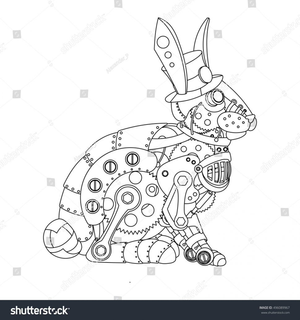 Animal Mechanical Coloring Pages Printable Steampunk Coloring Steampunk Animals Steampunk Drawing
