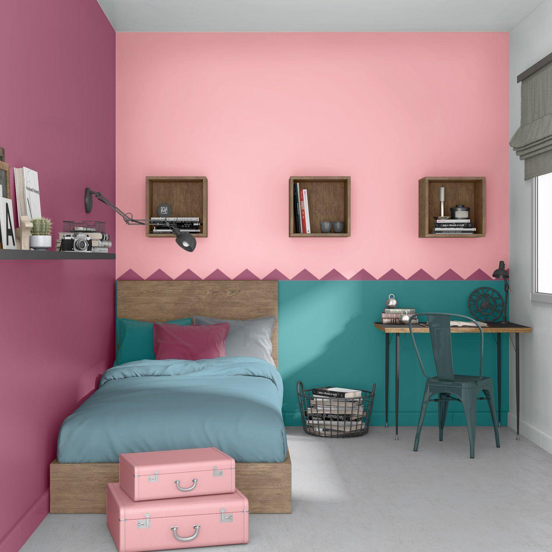Une chambre multicolore pour ados | Déco Rose en 2019 | Deco ...