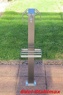 Wasserzapfstelle Verteiler Edelstahl Wasserzapfsäule Wassersäule Zapfsäule 1m