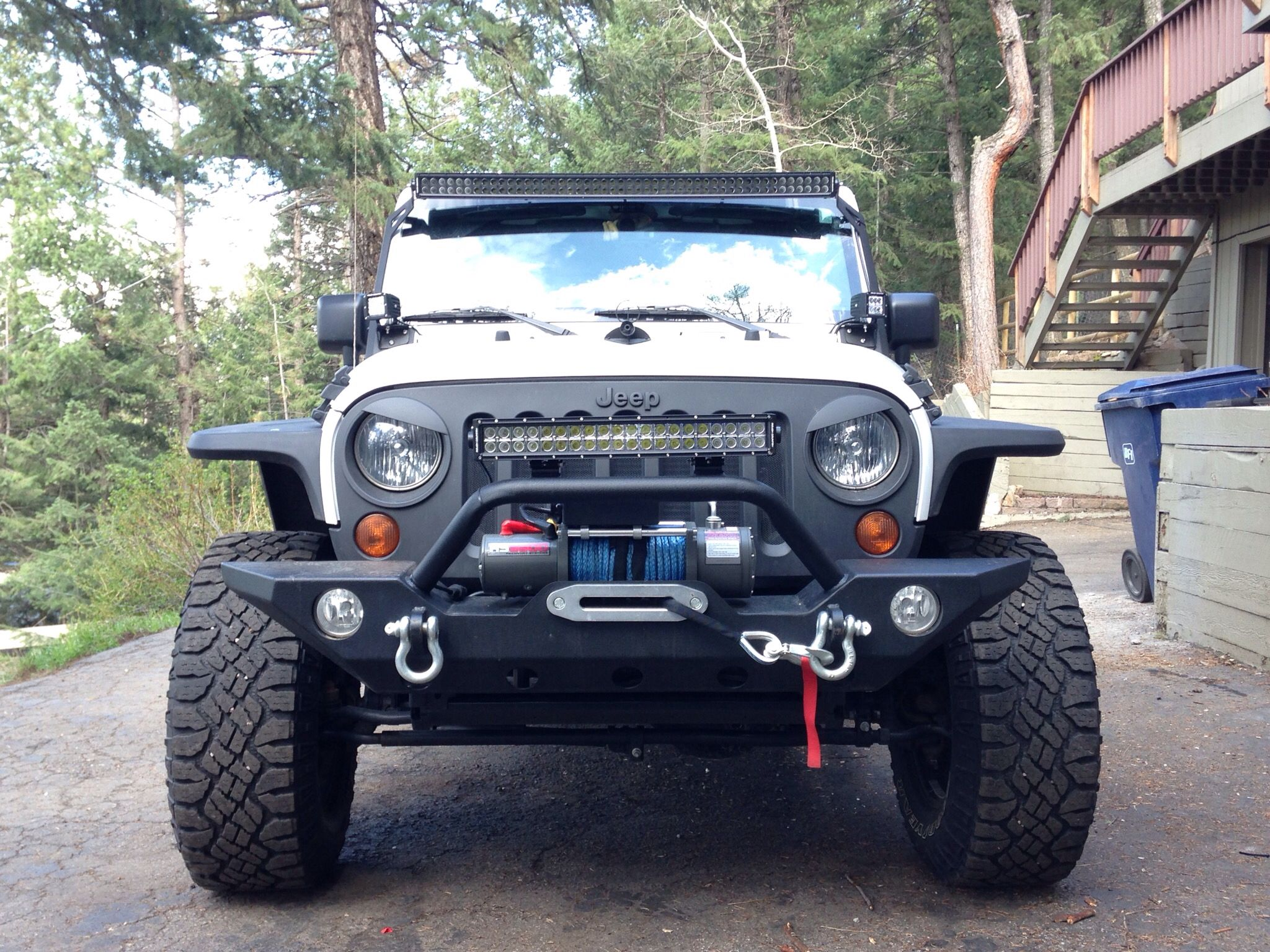 50 Light Bar 20 Light Bar 2 Cube Lights Jeep Wrangler 2013 Jk