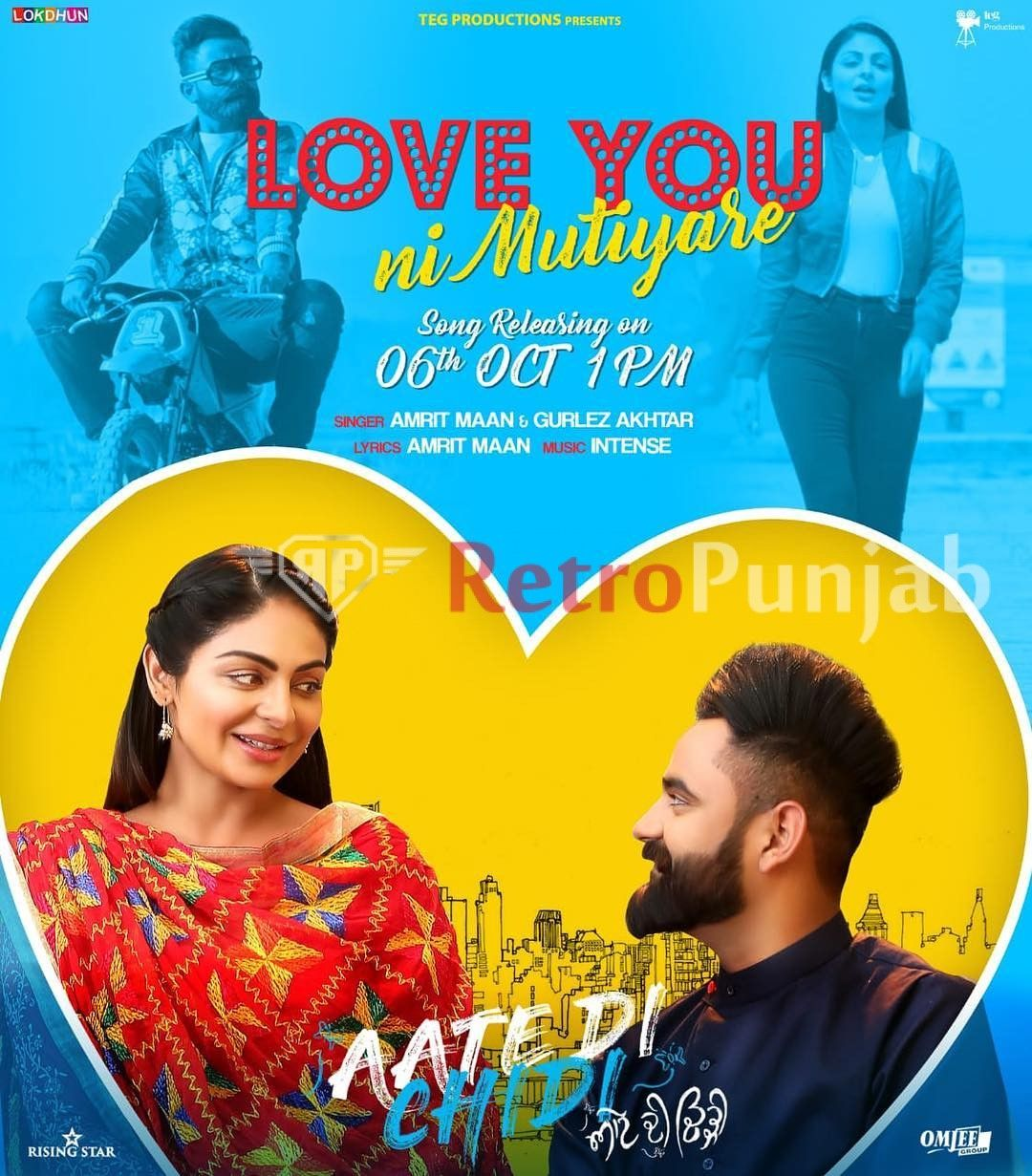 Love You Ni Mutiyare mp3 download, Amrit Maan new song(s) belongs to  category Rating 4/5. Love You Ni Mutiyare full song download duration time  is (03:10).