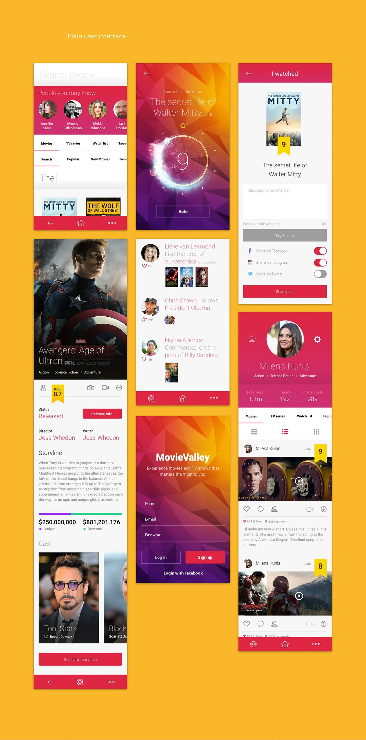 Experience Movies And Tv Series That Matter On App Design Served Android App Design App Design Layout App Design