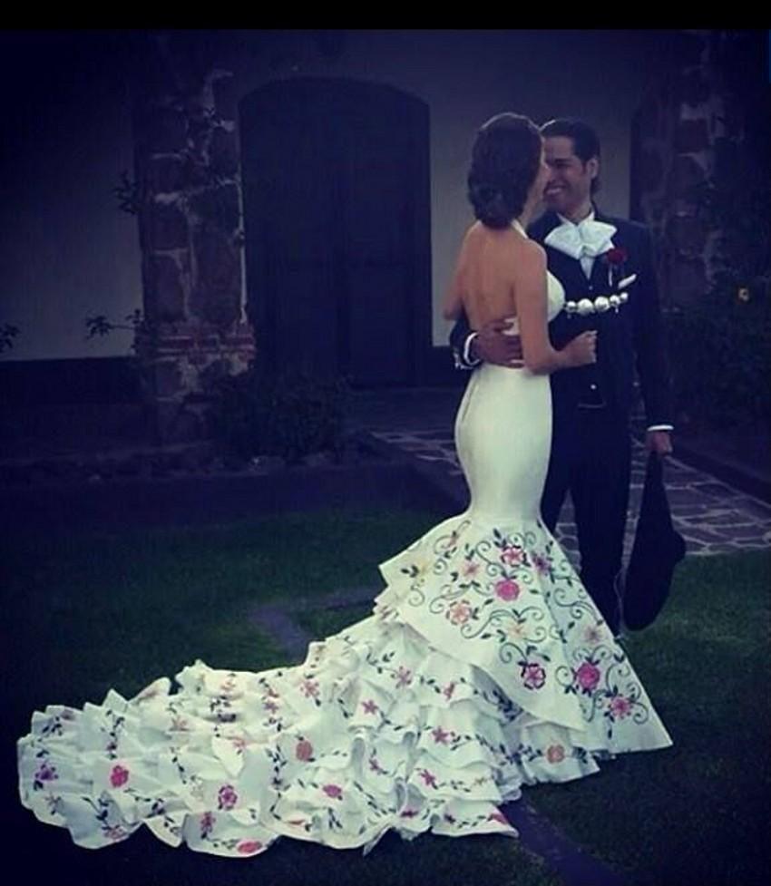 Modest Mermaid Bridal Gown Organza See Through Wedding Dresses ...
