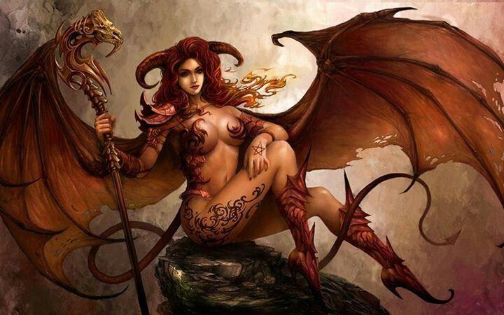 Fantasy Art Vampire Bat Girl Demon Girl Fantasy Art Satanic Art