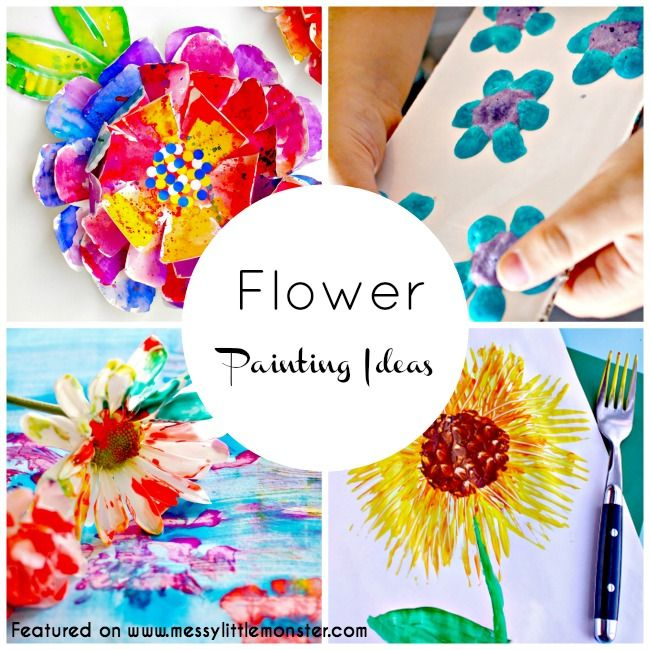 flower painting ideas for kids crafts infant art and sensory art