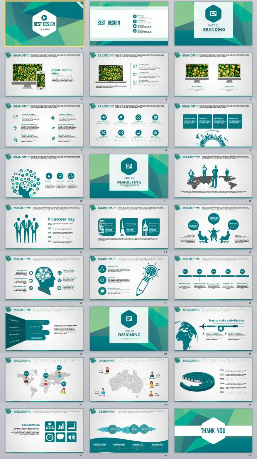 27 Blue Best Creative Powerpoint Template 2018 Best Chart