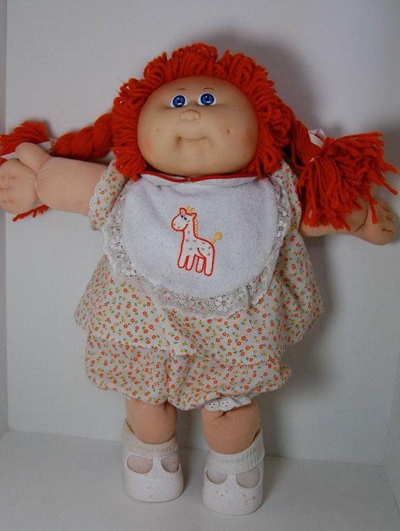 Vintage Cabbage Patch Kid Girl Doll Red Hair Blue Eyes 1985 Coleco Cabbage Patch Babies Patch Kids Cabbage Patch Kids