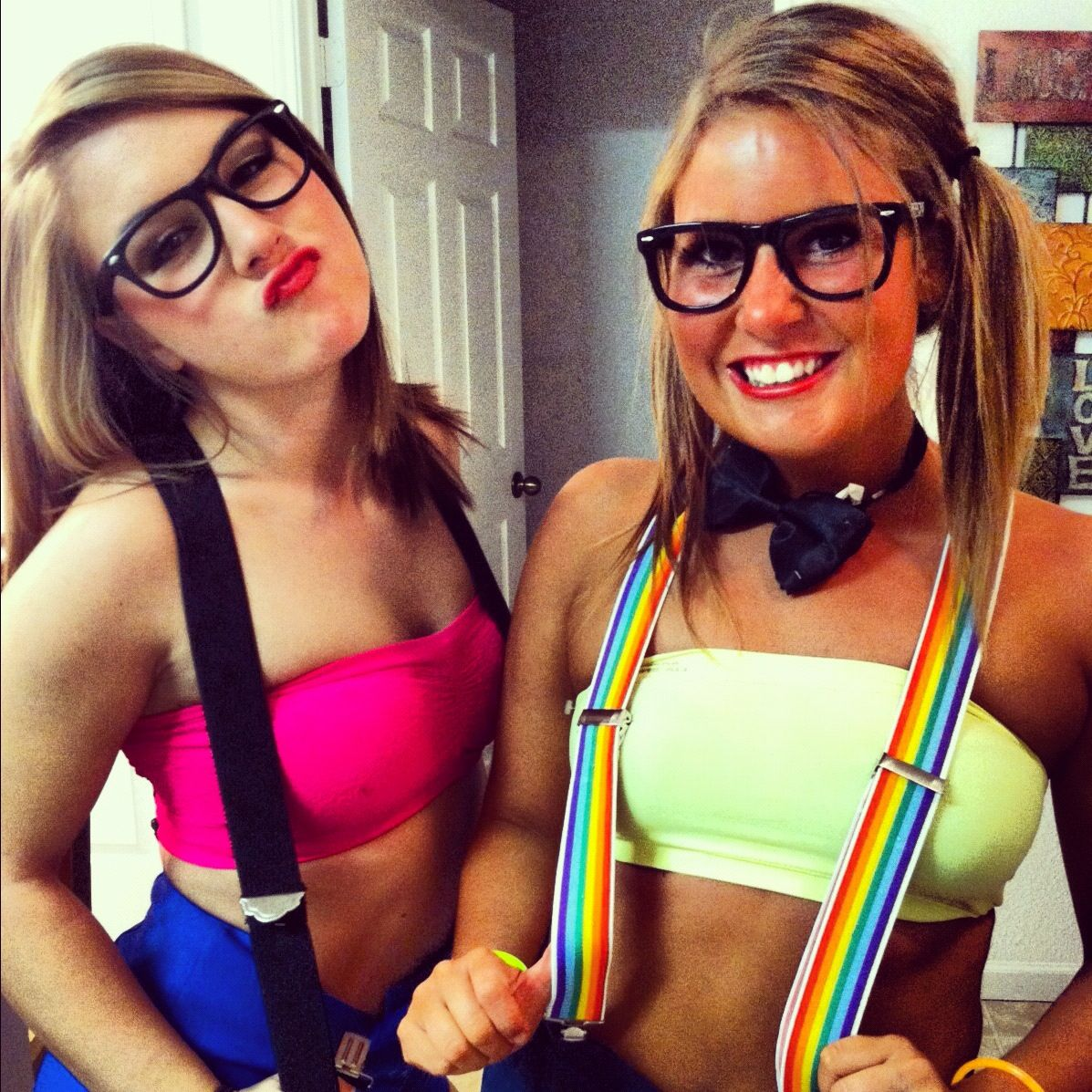 dyi halloween costume nerd - Homemade Halloween Costumes College Girls