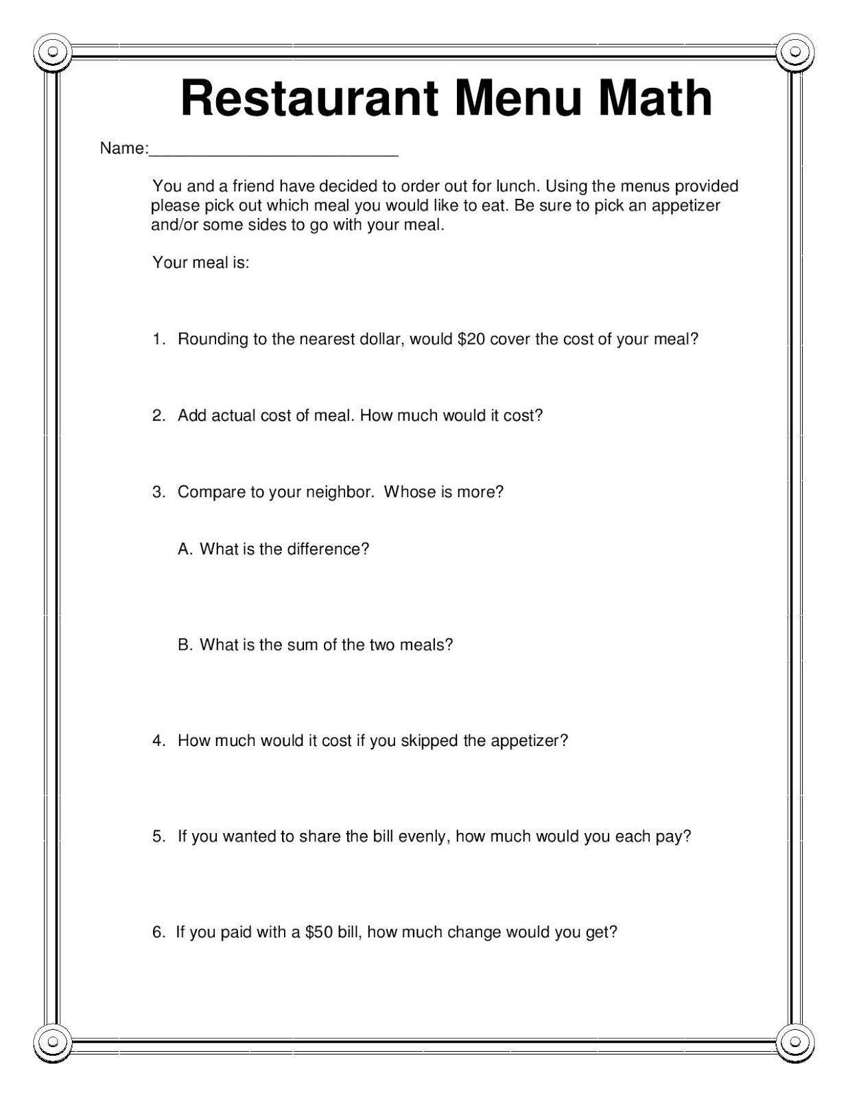 Printable Micrometer Worksheets Learning How To Read