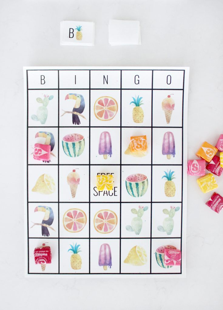 Free Printable Adorable Summer Bingo Cards Free