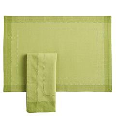 {redesigning dining} Grass Green Hemstitch Placemat | $5.95 from Pier 1 Imports - own