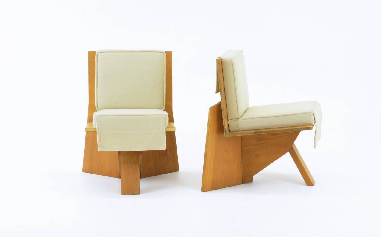 Pair Of Frank Lloyd Wright Chairs From The Sondern House, Kansas City |  From A Unique Collection Of Antique And Modern Chairs At ...