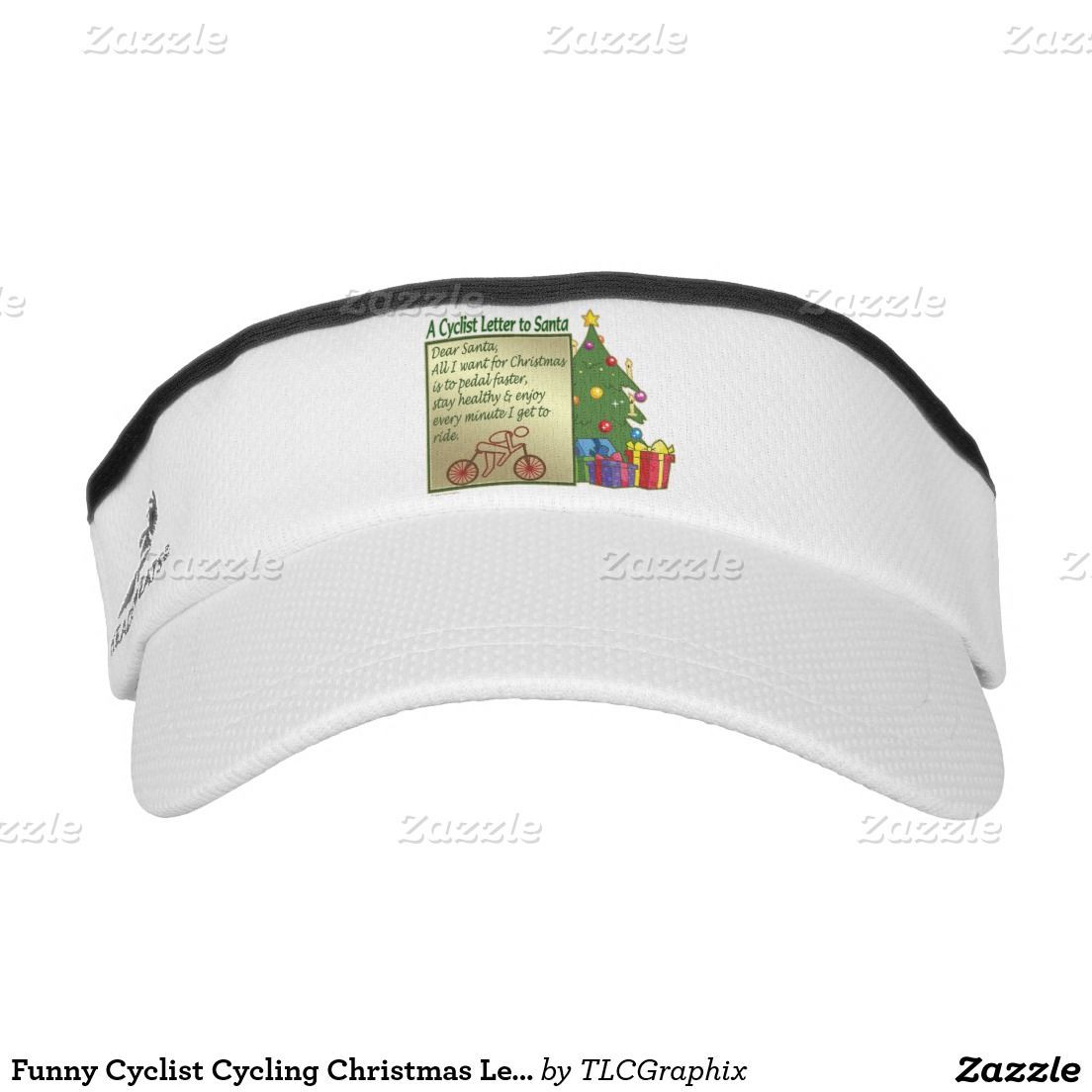 Funny Cyclist Cycling Christmas Letter To Santa Visor  Christmas