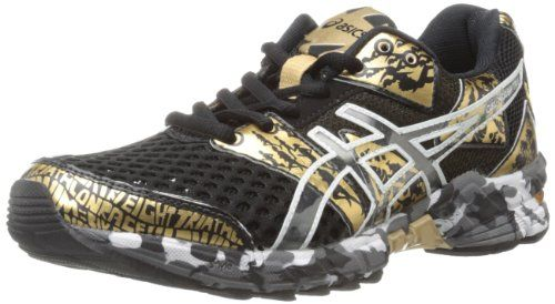 new product eff4f 839ee ASICS Women s Gel Noosa TRI 8 GR Running Shoe,Black Gold Metallic White,13  M US  119.95  ASICS  Shoes