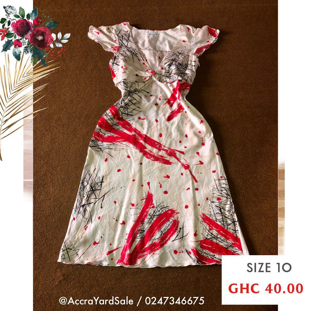 AVAILABLE!  Art dress  DM or click Whatsapp link in the bio to purchase. 📲 0247346675  💰 Cash on delivery or Momo before delivery. ⚠️ First person to pay for it gets it!  #accrayardsale #discountshop #ghana #thriftshop #accrathriftshop #ghanayardsale #everydaysale #buygh #thriftstoreghana #lowprice #gooddeals #ghdiscountshop #thriftgh #ghthrift #thrift #firstselection #usedclothes #fashion #like4like #follow4follow #love #photooftheday #fashion #slay #dresses #designer #beautiful #cute #instag