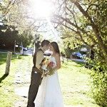 Sun-kissed Bride and Groom Shot - Sweet Deets Events - Photo by Adeline & Grace Photography