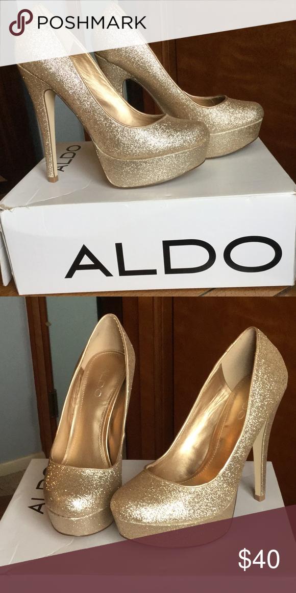 c92fb5177c9 ALDO High Heels Shimmering CapeCoral-85 Size 37-B Aldo Shoes Heels