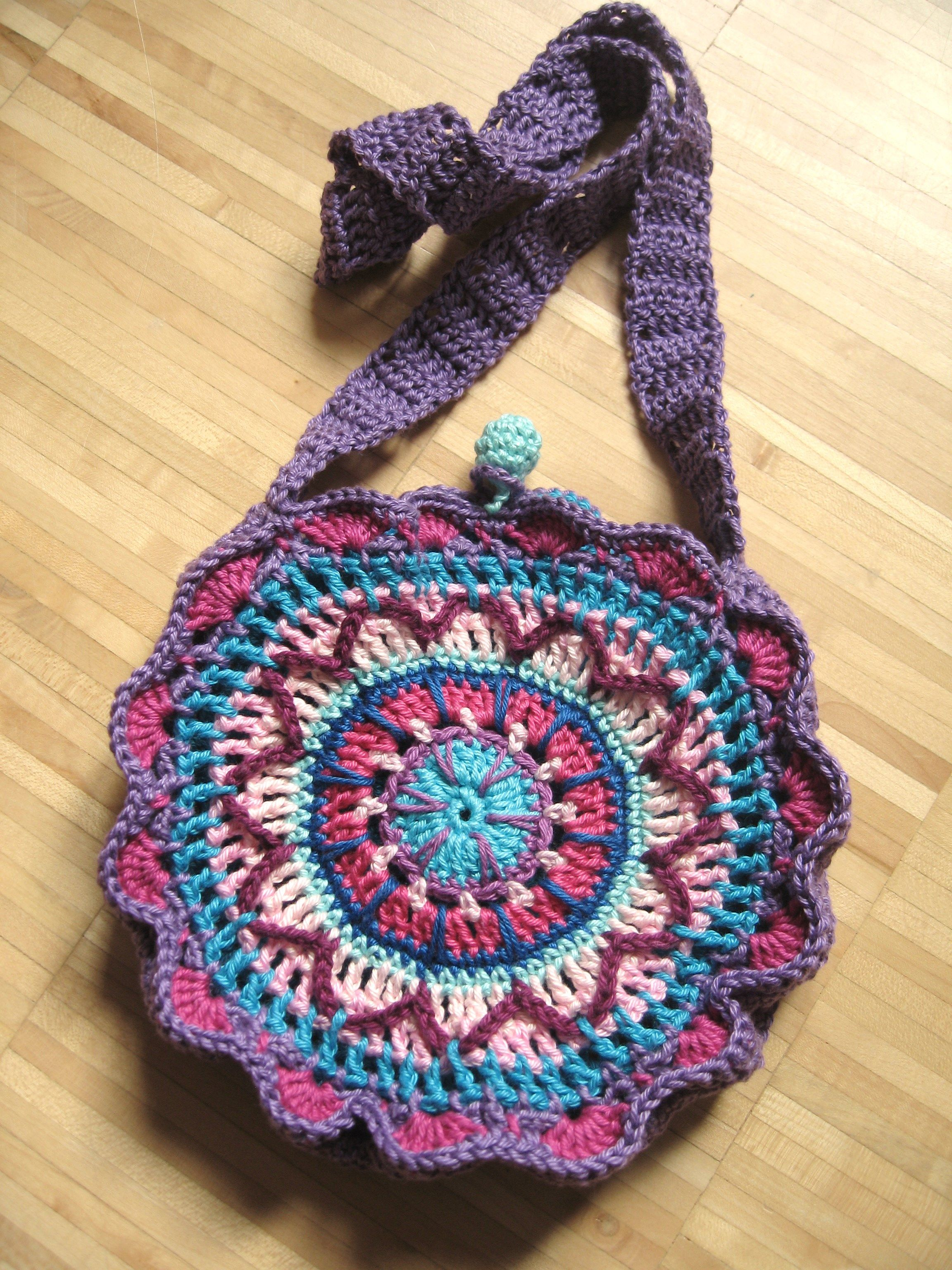 crochet purse: free pattern in English and German | crochet bags ...