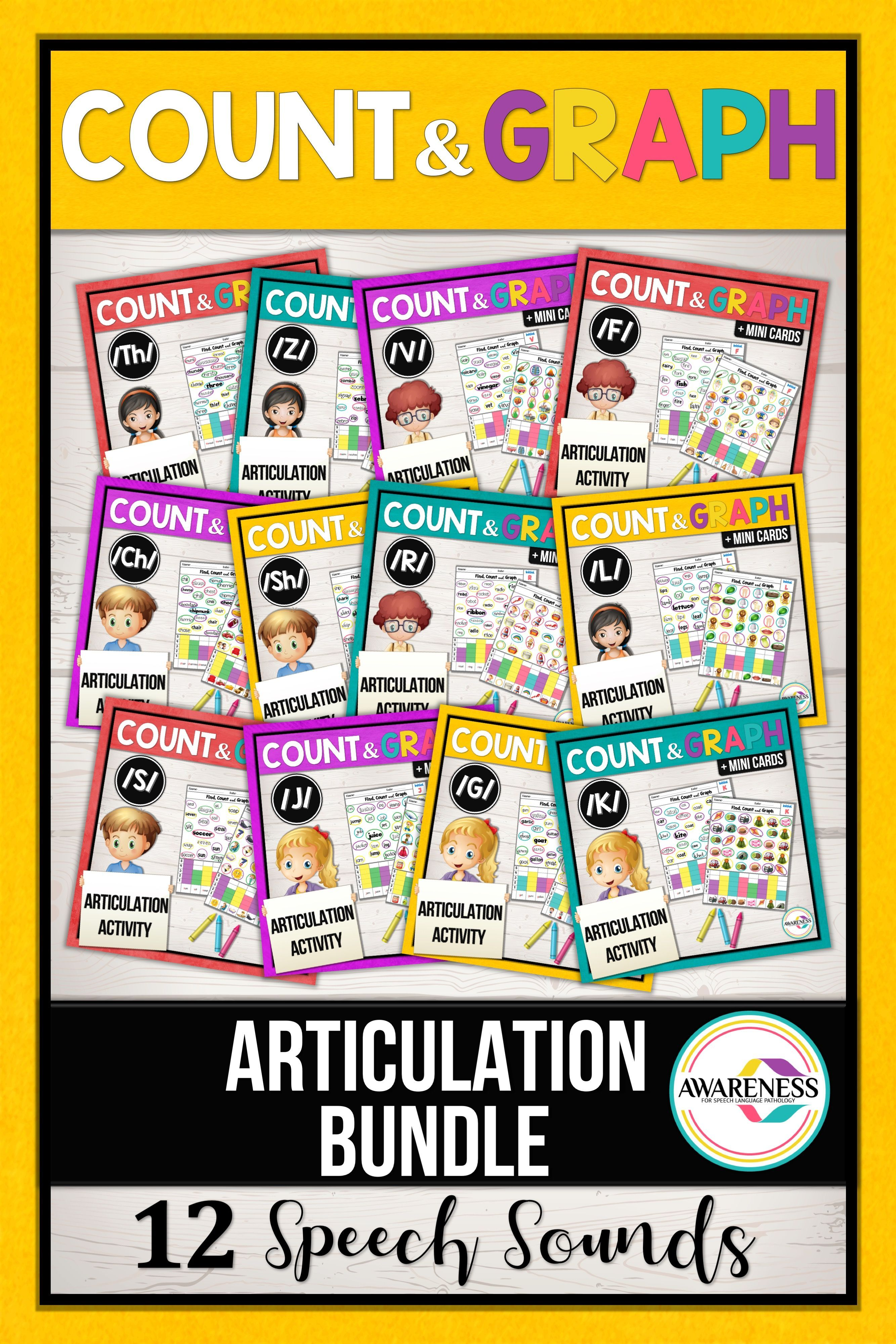 Articulation Worksheets Count Amp Graph Bundle
