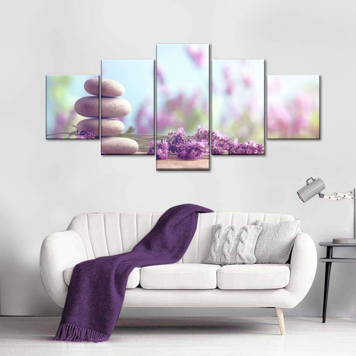 Lavender Relaxation Multi Panel Canvas Wall Art Canvas Wall Art Wall Art Canvas Prints Massage Room Decor