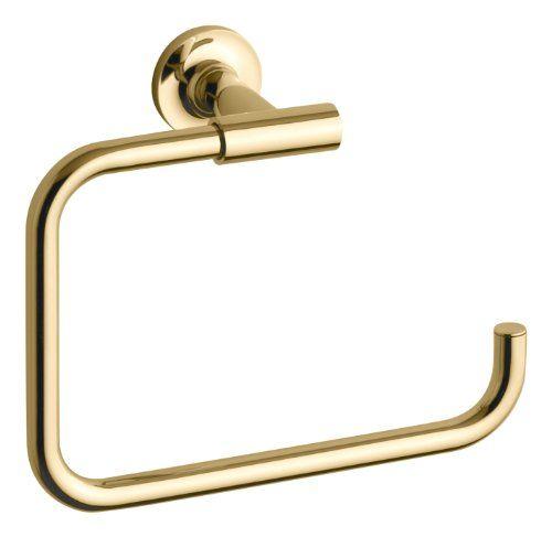 Kohler K 14441 Pgd Purist Towel Ring Vibrant Moderne Polished Gold Kohler Purist Towel Rings Kohler