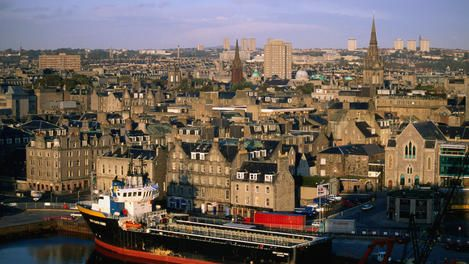 Aberdeen Scotland A Bustling City On The North Sea Surrounded By A Beautiful Countryside Aberdeen Harbour Aberdeen Scotland