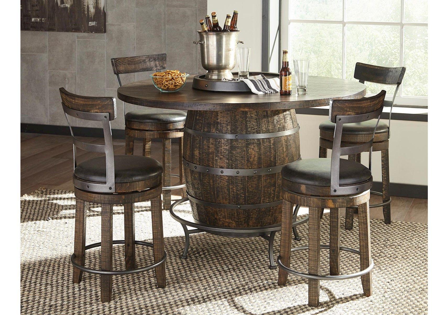 Lacks Homestead 5 Pc Dining Set Pub Table Sets Round Pub