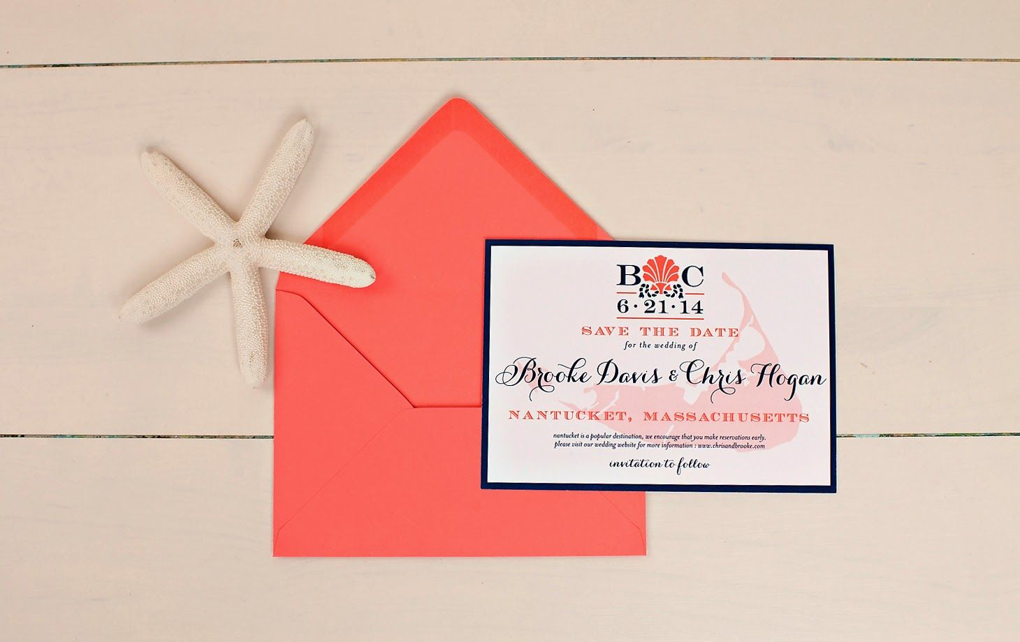 Nautical save the date for a #Nantucket #wedding I Custom by Nico ...