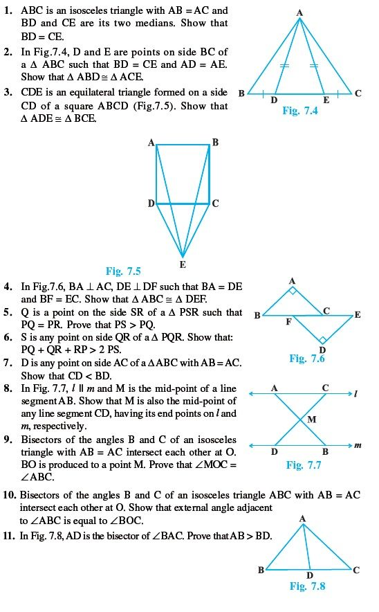 Class 9 important questions for maths triangles mathematics class 9 important questions for maths triangles malvernweather Gallery