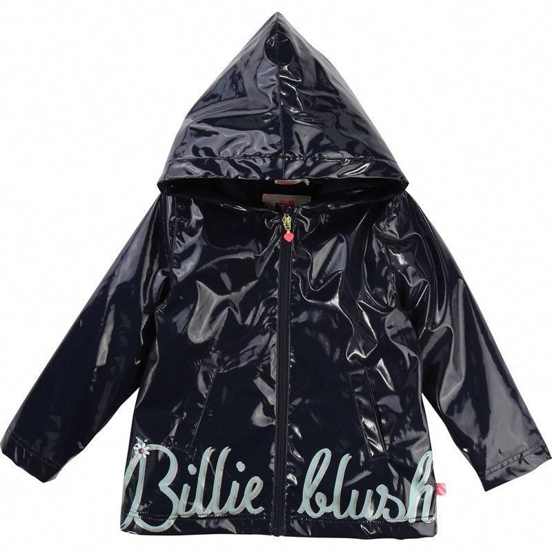 bf9fc53d90e7 BILLIEBLUSH Girls Navy Logo Raincoat - Jakss  DuckRaincoat