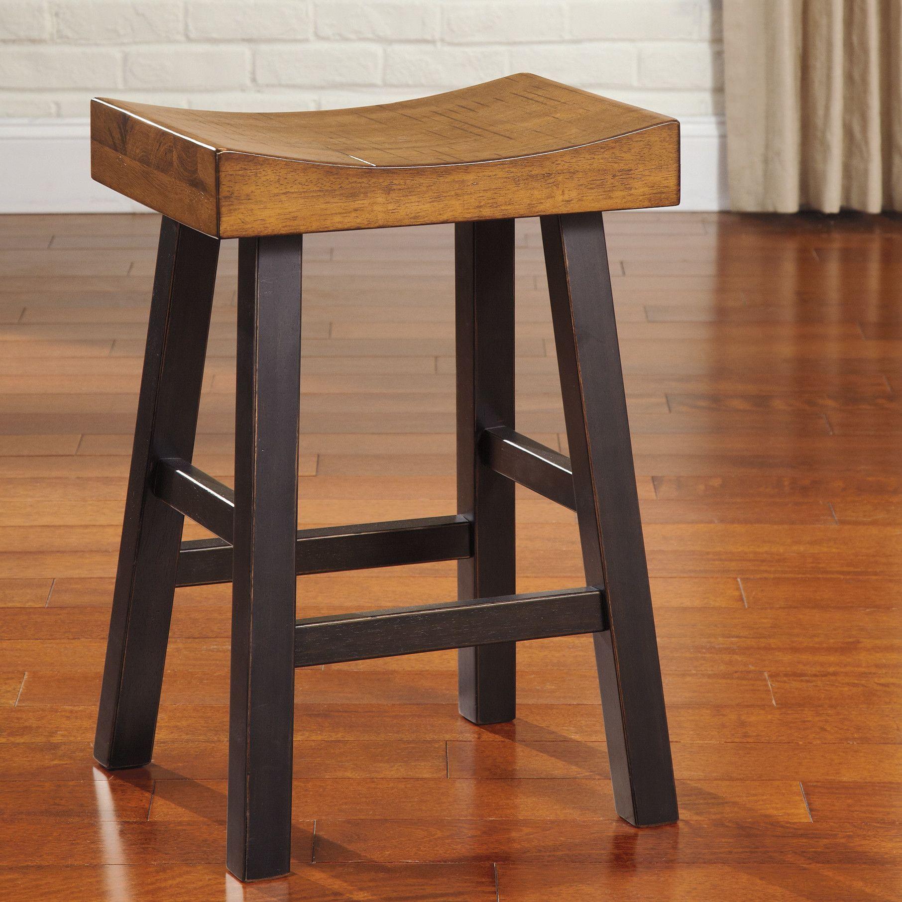 Signature Design By Ashley Glosco 25 Bar Stool Set Of 2 Counter Stools Backless Bar Stools Backless Bar Stools