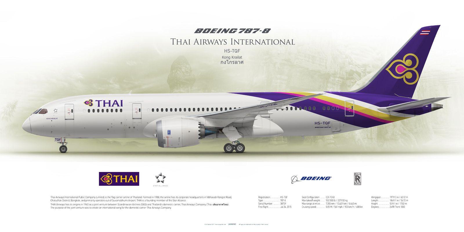 Boeing 787-8 Thai Airways International HS-TQF | Airlines