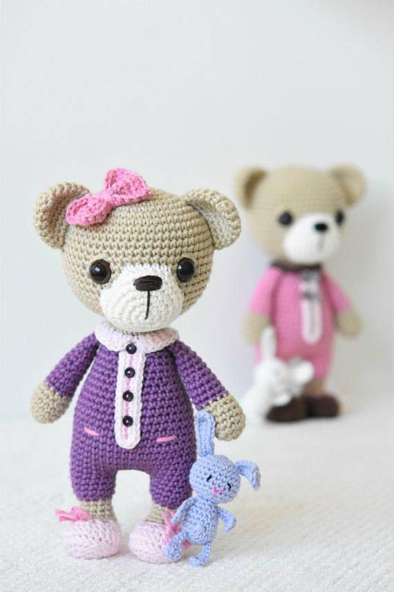 PATTERN - Sleepy Ida and Itsy-bitsy bunny - amigurumi crochet ...