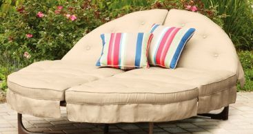 Chaise Lounge Cushions Patio Chairs, Round Lounge Chair Outdoor Cushions