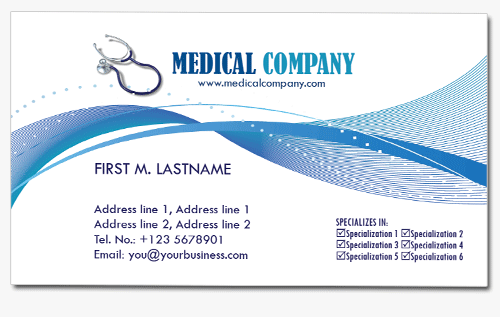 4 Medical Business Cards Templates In Psd Medical Business Card Medical Business Vector Business Card