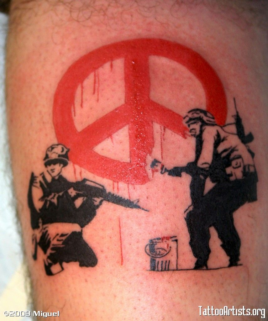 Graffiti art tattoo - Banksy Street Art Tattoo Google Image Result For Http Www Tattooartists