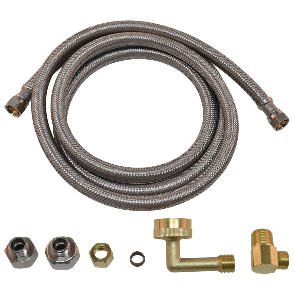 Eastman 10 Ft L 1 2 In Fip Inlet X 3 8 In Outlet Corrugated Pvc Dishwasher Installation Kit 69006 In 2020 Dishwasher Installation Electrical Cord Dishwasher