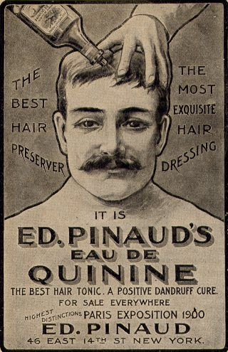 Featured Aftershave - Pinaud Eau de Quinine. Art / Ad