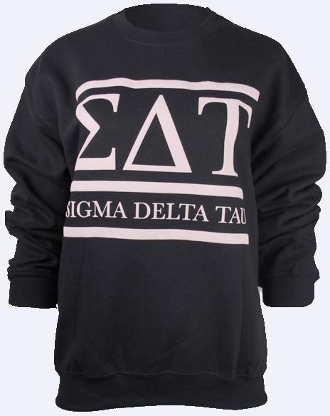 Sigma Delta Tau Letters Sweatshirt By Adam Block Design  Custom