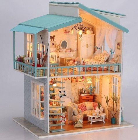 Hobbyworld Co Nz Doll House Diy Miniature Cradle On The Beach 3d