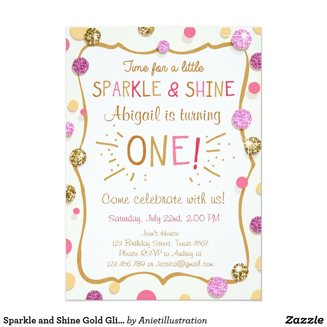 Sparkle and shine gold glitter birthday invitation glitter sparkle and shine gold glitter birthday invitation filmwisefo