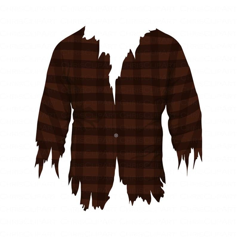 Werewolf Shirt Svg Clipart Torn Shirt Ripped Shirt Zombie Etsy Ripped Shirts Zombie Shirt Clip Art