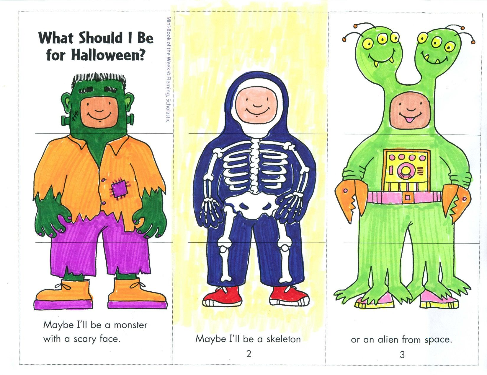 This Mini Book Helps Children Choose A Halloween Costume