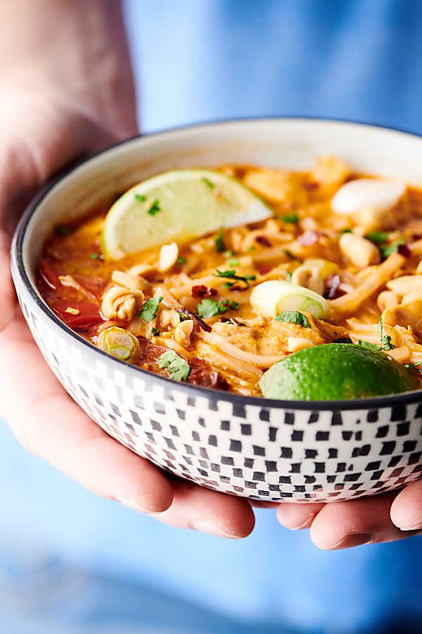Coconut Curry Chicken Noodle Soup Recipe - Gluten