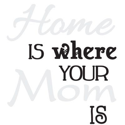 The Decal Guru Home is Where Mom is Wall Decal | Wall ...