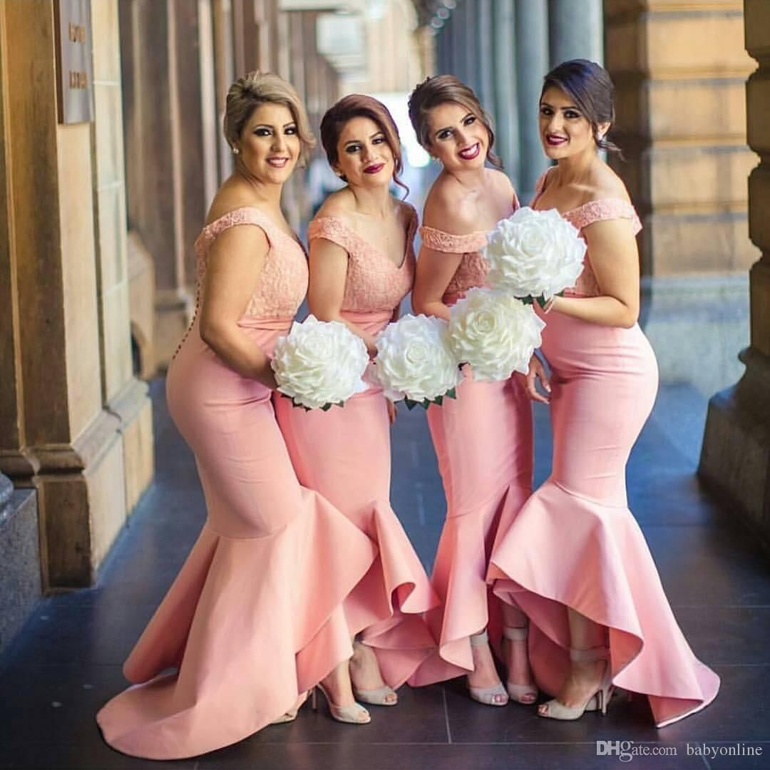 2017 New Arabic Sweetheart Off Shoulders Bridesmaid Dresses Backless ...