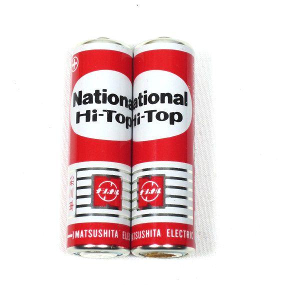Vintage Battery National Hi Top Size Aa X 2 Made In Japan Etsy Vintage Silver Color Scheme Hi Top