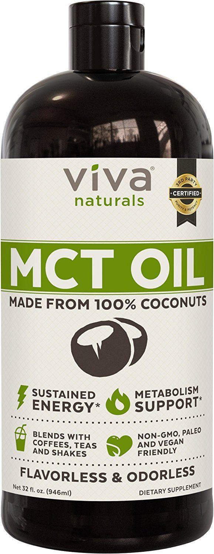Amazon.com: Viva Naturals Non-GMO Pure Coconut MCT Oil (32 ...