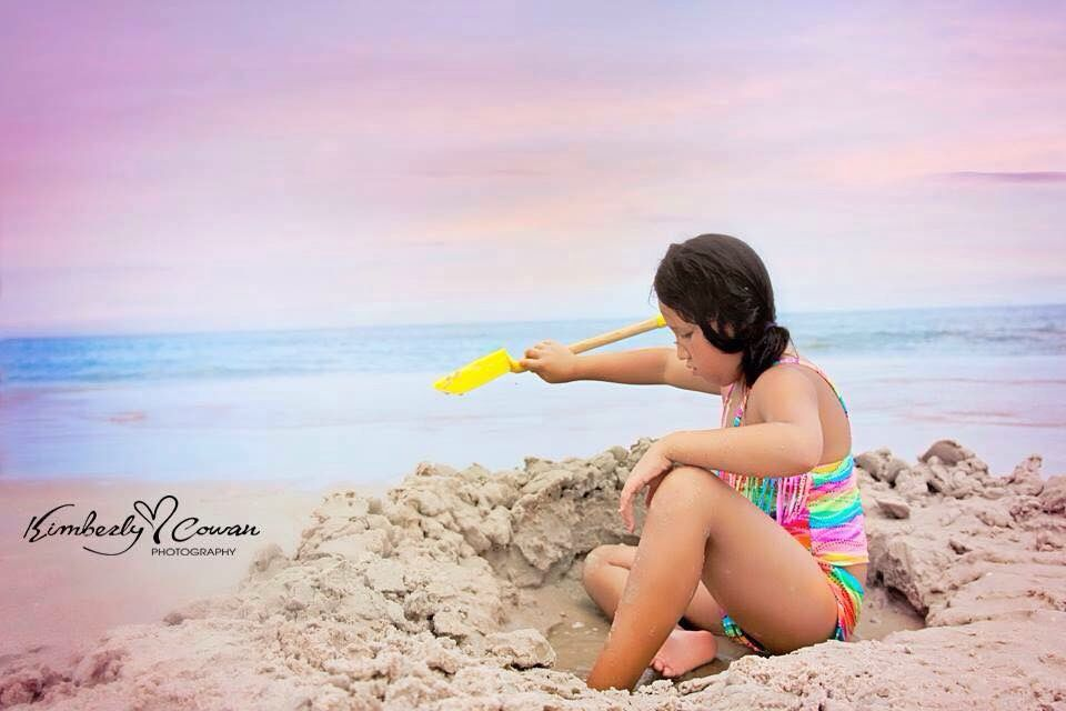 Children beach photography